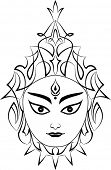 foto of durga  - Durga The Goddess Of Power - JPG