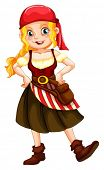 pic of pirate girl  - Illustration of a female pirate - JPG
