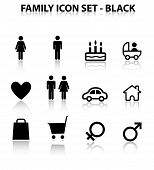Reflect Family Icon Set (Black)