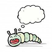 stock photo of caterpillar cartoon  - cartoon caterpillar - JPG