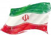 picture of iranian  - waving iranian grunge flag - JPG