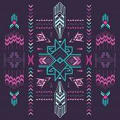 foto of aztec  - Tribal Vintage Aztec Background  - JPG