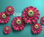 picture of diya  - Vector Diwali Diya  - JPG