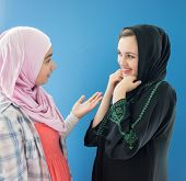 picture of hijabs  - Beautiful girls with a hijab together - JPG