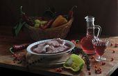 foto of marinade  - Meat marinaded in red wine and spices - JPG