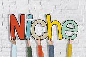 picture of niche  - Niche Business Marketing Specific Conceptual Commerce Segregated Concept - JPG