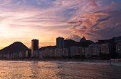image of carnival rio  - Beautiful Sunset in Copacabana Beach - JPG