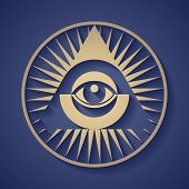pic of human pyramid  - Vector human eye in engraved style - JPG
