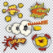 picture of explosion  - Set of comic book explosions - JPG