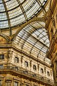 stock photo of burlington  - Image of interior of Galleria Vittorio Emanuele II Milan Italy - JPG