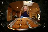foto of homeless  - Hot and Fresh COOKIES right from the oven - JPG