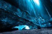 picture of cave  - ice cave in Iceland in south - JPG