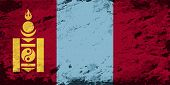 image of mongolian  - Mongolian flag Grunge background - JPG