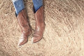 picture of cowgirl  - Western style image of cowgirl - JPG