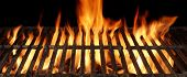 picture of braai  - Empty Barbecue Charcoal Cast Iron Grill Close - JPG