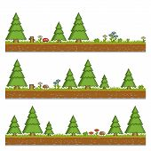 pic of pixel  - Vector pixel art forest green background and texture for games and design - JPG