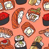 pic of sushi  - Japanese cuisine - JPG