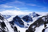 picture of tit  - Valley of Titlis snow mountains in Engelberg Lucerne Switzerland