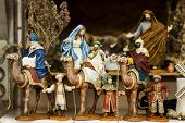 pic of three kings  - The three holy king nat and the birth of Jesus Nativity scene  - JPG