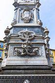 pic of obelisk  - San Domenico Maggiore square whit its caratheristic obelisk naples - JPG