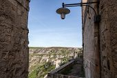 stock photo of sassy  - Matera in Italy with its caratheristics Sassi troglodyte houses - JPG
