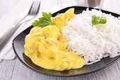 picture of curry chicken  - chicken curry and rice - JPG