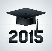 picture of senior class  - A class of 2015 graduation cap theme illustration - JPG