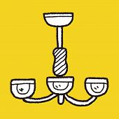 picture of lamp shade  - Hanging Lamp Doodle - JPG