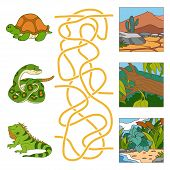 picture of green snake  - Game for children - JPG