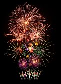 image of firework display  - Fireworks display for new year and celebration event - JPG