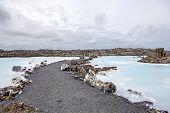 stock photo of thermal  - Blue lagoon thermal station near Reykjavik Iceland  - JPG