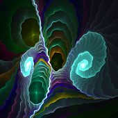 foto of amoeba  - Crazy abstract melted colorful shapes as wallpaper - JPG
