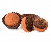 picture of truffle  - chocolate truffle close - JPG