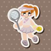 pic of badminton player  - Badminton Player Theme Elements - JPG