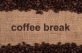 image of peppy  - roasted coffee beans on a bag background - JPG