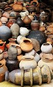 stock photo of pottery  - Thailand pottery together to the Division I classification - JPG