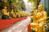 stock photo of ten  - Statues at Ten Thousand Buddhas Monastery in Sha Tin - JPG