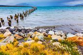 stock photo of arena  - Strait of Magellan summer February afternoon - JPG