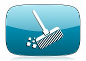 pic of broom  - broom icon clean sign  - JPG