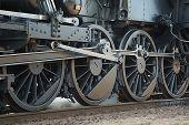 pic of locomotive  - Steam Locomotive Rolling - JPG