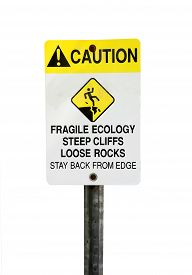 stock photo of fragile sign  - Warning sign - JPG