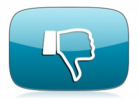 stock photo of dislike  - dislike icon thumb down sign  - JPG