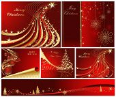 stock photo of merry christmas  - Merry Christmas and Happy New Year collection - JPG