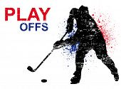 pic of ice hockey goal  - hockey poster - JPG