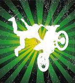 Постер, плакат: Райдер Векторный фон мотокроссе плакат