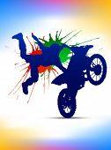 Постер, плакат: мотокроссе плакат всадник на мотоцикле