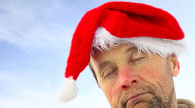 picture of santa claus hat  - Drunk man in santa - JPG