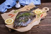 Cooking Flounder Fish poster