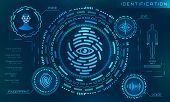 Biometric Identification Personality, Scanning Modern Access Control, Technology Recognition Authent poster