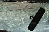 picture of life after death  - Cracked windshield and a rear - JPG